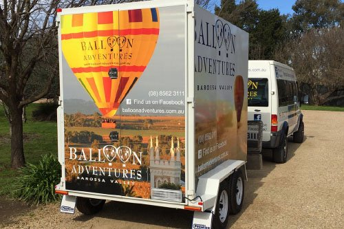 Balloon Adventures signage trailer